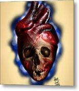 Heart Skull Metal Print