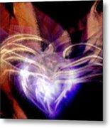 Heart Wings Metal Print