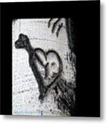 Heart Written In The Trees 3 Metal Print