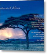 Heartbeat Of Africa Metal Print