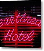 Heartbreak Hotel Neon Metal Print