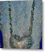 Hearted On Your Wall Again Medalion Painting Metal Print