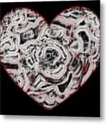 Heartline 1 Metal Print