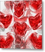 Hearts Afire Abstract Metal Print