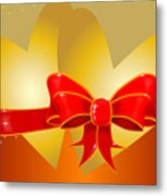 Hearts And Bow Metal Print