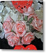 Hearts And Roses Metal Print