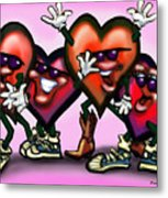 Hearts Gang Metal Print
