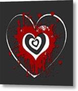 Hearts Graphic 1 Metal Print