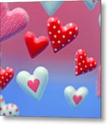 Hearts Hearts And More Hearts Metal Print