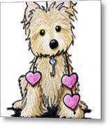 Heartstrings Cairn Terrier Metal Print