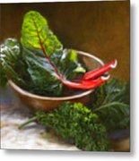 Hearty Greens Metal Print