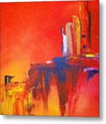 Heated Abstraction Metal Print