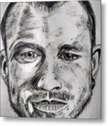 Heath Ledger Charcoal Sketch Metal Print