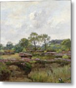 Heather Landscape Metal Print