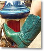 Heather's Boot Metal Print