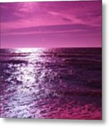 Heaven Shines Purple Metal Print