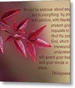Heavenly Bambo Leaves Phil.4 V 5-7 Metal Print