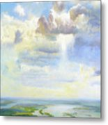 Heavenly Clouded Beauty Abstract Realism Metal Print