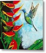 Heavenly Heliconia Metal Print