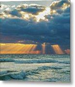 Heavenly Sunrise Panorama At Riviera Beach  Metal Print