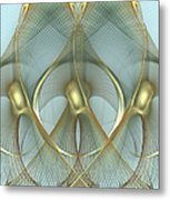 Heavenly Wings Of Gold Metal Print