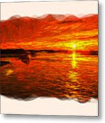 Heavens Of Fire 2 Metal Print