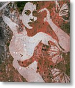 Heavy Crown - Red Metal Print