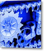 Heavy Metal In Blue Metal Print