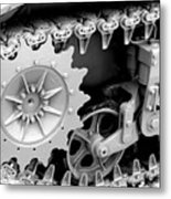 Heavy Metal In Gray Metal Print