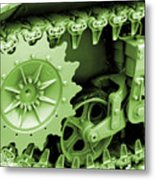 Heavy Metal In Green Metal Print