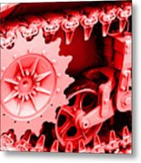 Heavy Metal In Red Metal Print
