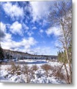 Heavy Snow At The Green Bridge Metal Print