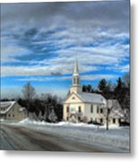 New Snow On Hebron Common Metal Print
