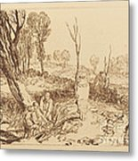 Hedging And Ditching Metal Print