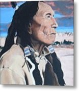 Hehaka Sapa Black Elk Metal Print
