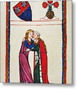 Heidelberg Lieder, 14th C Metal Print