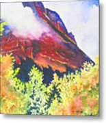 Heights Of Glacier Park Metal Print