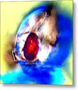 Heirloom Ruby Ring Metal Print