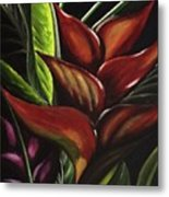 Heliconia Flower Metal Print