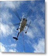 Helicopter Hover Metal Print