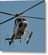 Helicopter On Final Approach  Metal Print