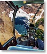Helicopter On Glacier National Park Metal Print