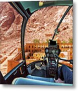 Helicopter On Monastery Of St Catherine Metal Print