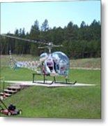 Helicopter Ride South Dakota Metal Print