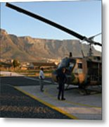 Helicopter Tours Of Cape Town And Table Mountain Metal Print