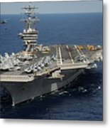 Helicopter's Approaches The Flight Deck Metal Print