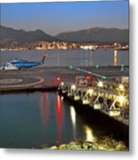 Heliport In The Vancouver's Port Metal Print
