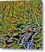 Hellbrook Cascades In Autumn Metal Print