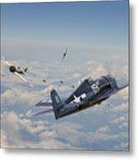 Hellcat F6f - Duel In The Sun Metal Print