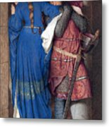 Hellelil And Hildebrand Or The Meeting On The Turret Stairs Metal Print